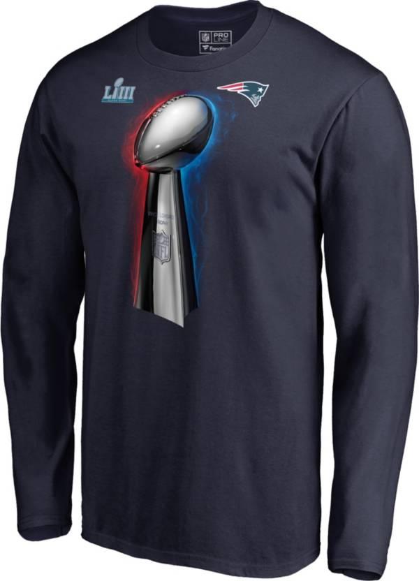NFL Men's Super Bowl LIII Champions New England Patriots Parade Celebration Long Sleeve Shirt product image