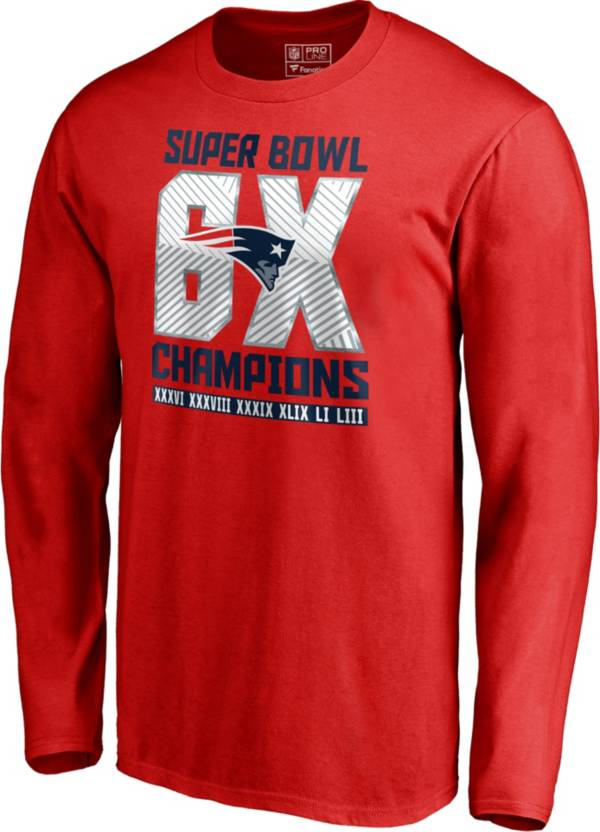 NFL Men's Super Bowl LIII 6X Champions New England Patriots Long Sleeve Shirt product image