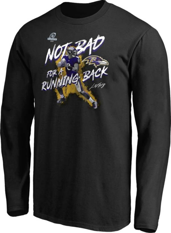 NFL Men's Baltimore Ravens Playoffs 2019 'Not Bad For A Running Back' Black Long Sleeve Shirt product image