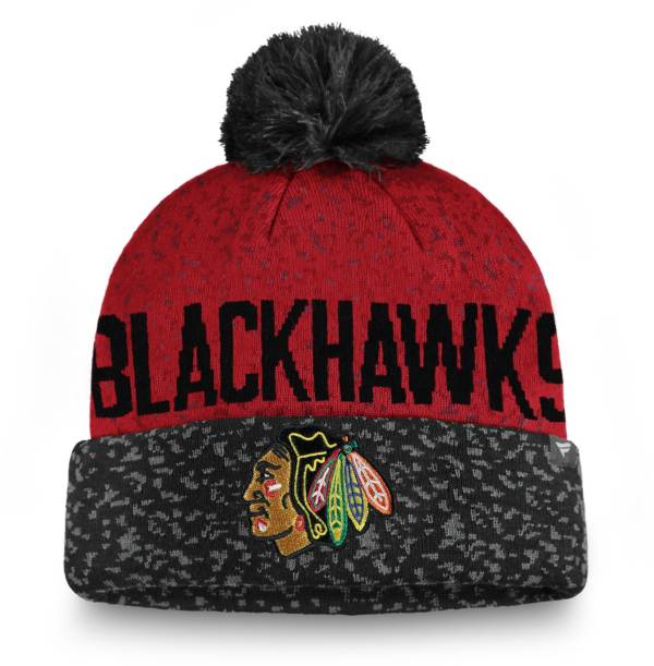 NHL Men's Chicago Blackhawks Fan Weave Pom Knit Beanie product image
