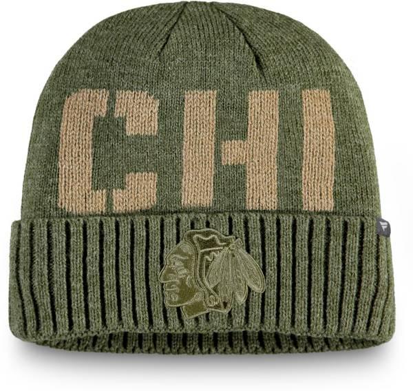 NHL Men's Chicago Blackhawks Modern Utility Cuff Knit Beanie product image