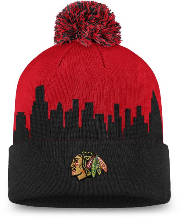 NHL Men's Chicago Blackhawks Hometown Red Pom Knit Beanie product image