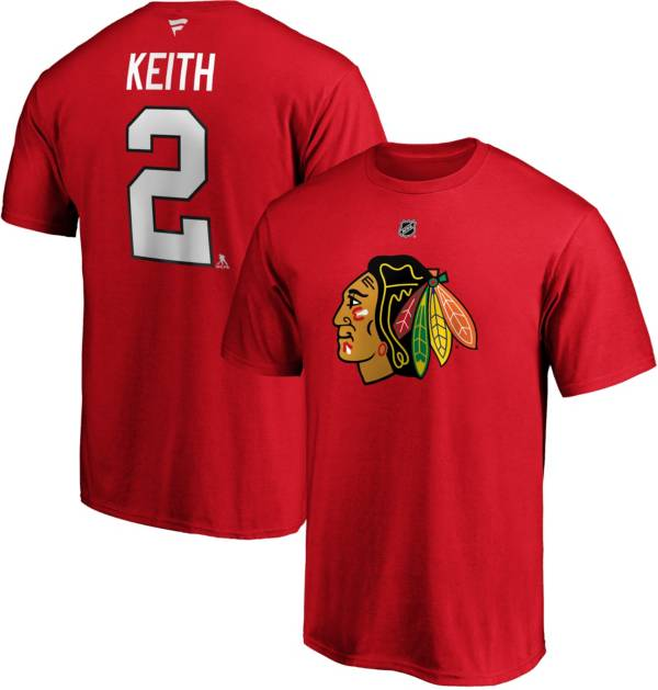 NHL Men's Chicago Blackhawks Duncan Keith #2 Red Player T-Shirt product image