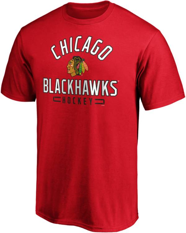 NHL Men's Chicago Blackhawks Arc Stack Red T-Shirt product image
