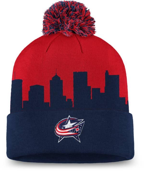 NHL Men's Columbus Blue Jackets Hometown Navy Pom Knit Beanie product image