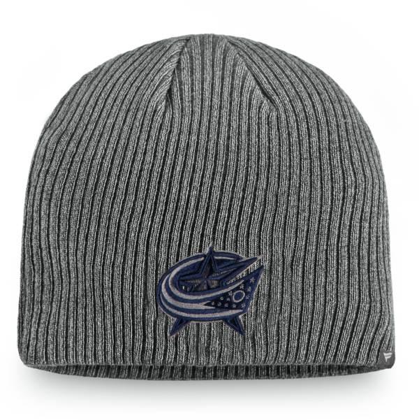NHL Men's Columbus Blue Jackets Marled Tech Pom Knit Beanie product image