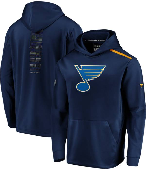 NHL Men's St. Louis Blues Authentic Pro Rinkside Fleece Navy Pullover Hoodie product image
