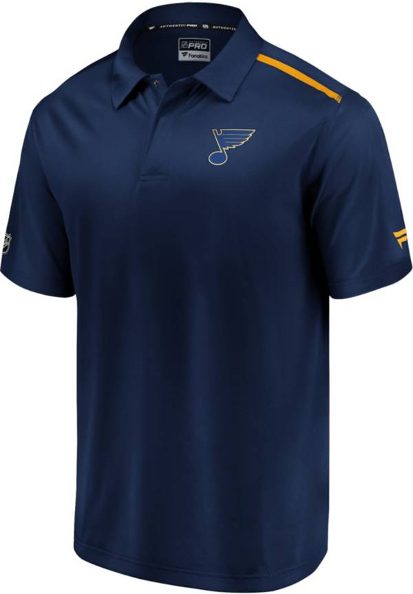 NHL Men's St. Louis Blues Authentic Pro Rinkside Navy Polo product image