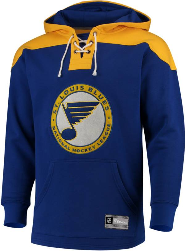 NHL Men's St. Louis Blues Lace Up Royal Pullover Hoodie product image
