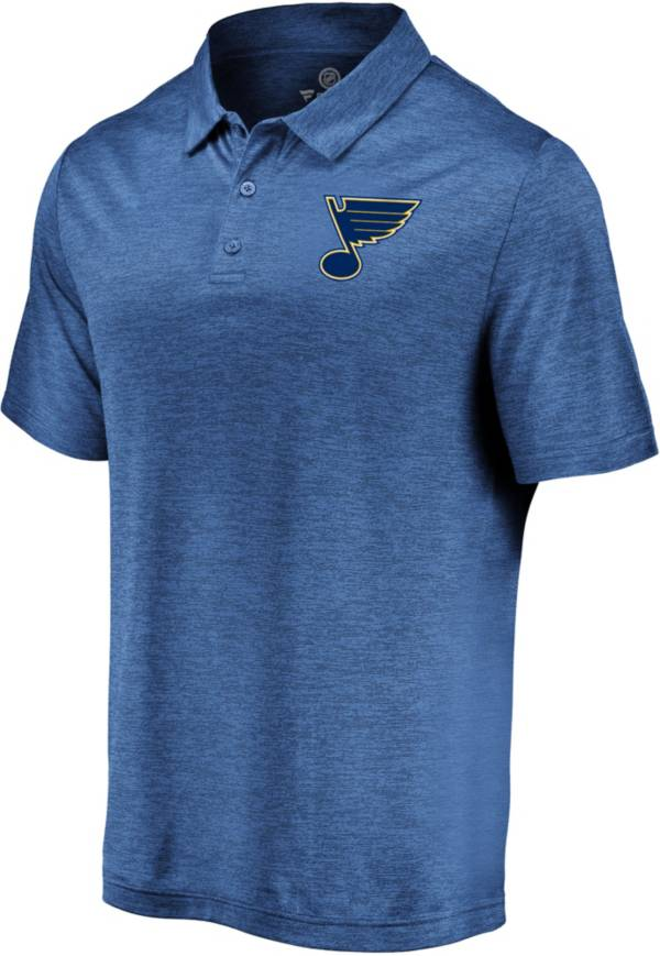 NHL Men's St. Louis Blues Logo Royal Polo product image