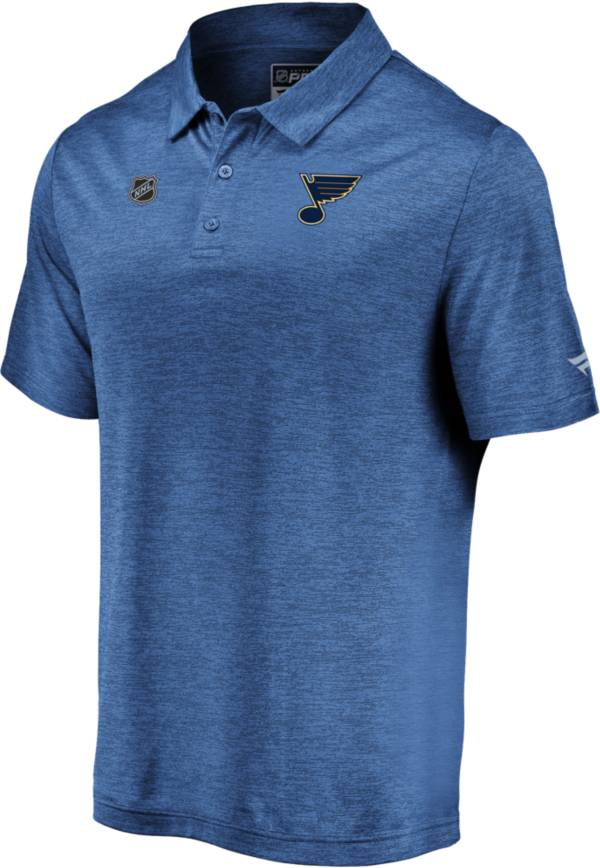NHL Men's St. Louis Blues Authentic Pro Striated Royal Polo product image