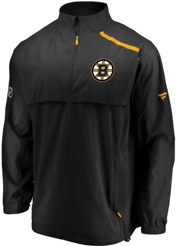 NHL Men's Boston Bruins Authentic Pro Rinkside Black Full-Zip Jacket product image