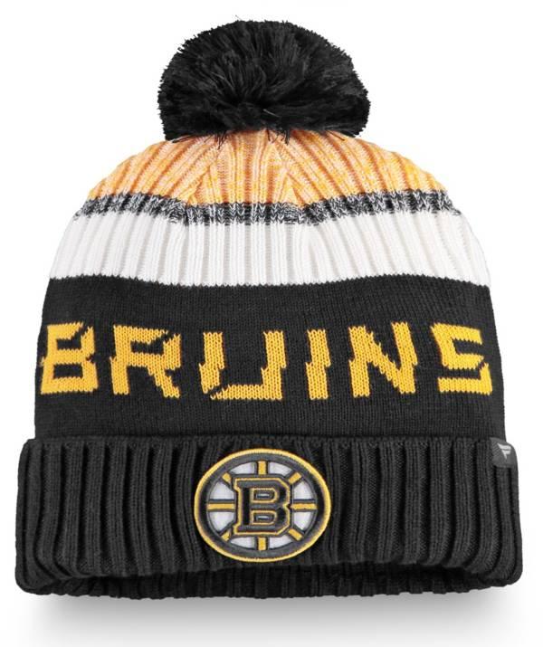 NHL Men's Boston Bruins Rinkside Pom Knit Beanie product image