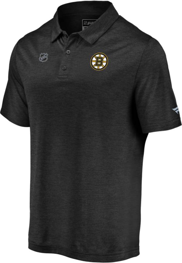 NHL Men's Boston Bruins Authentic Pro Striated Black Polo product image