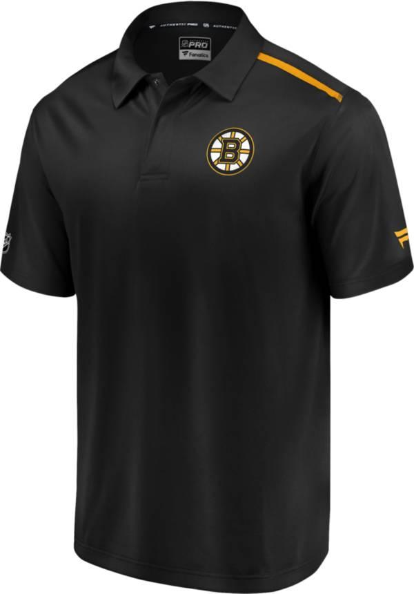 NHL Men's Boston Bruins Authentic Pro Rinkside Black Polo product image