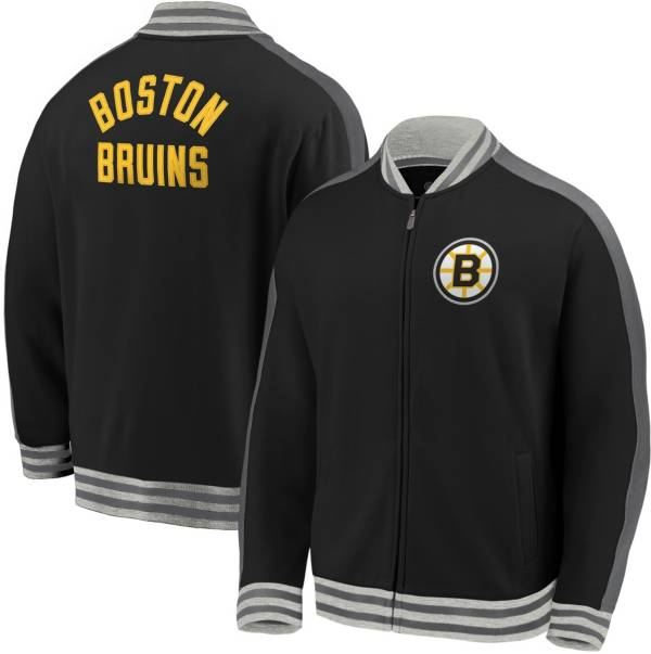 NHL Men's Boston Bruins Varsity Black Full-Zip Track Jacket product image