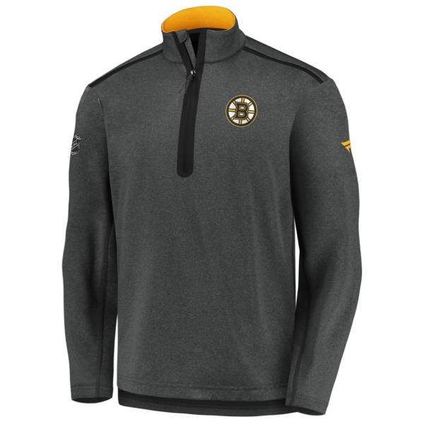 NHL Men's Boston Bruins Authentic Pro Gray Quarter-Zip Pullover product image