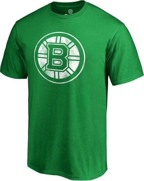 2a183835a88 NHL Men s 2019 St. Patrick s Day Boston Bruins Logo Green T-Shirt ...