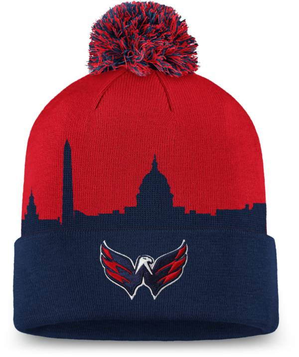 NHL Men's Washington Capitals Hometown Red Pom Knit Beanie product image