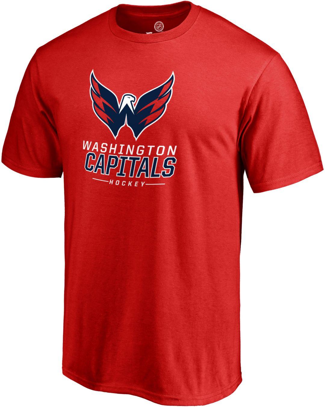 wholesale dealer 28884 d79bf NHL Men's Washington Capitals Lockup Red T-Shirt