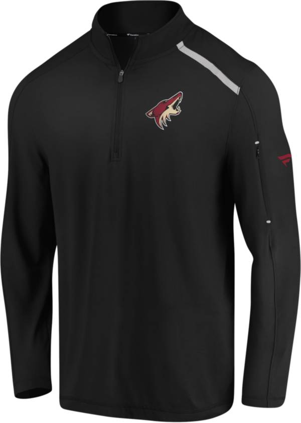 NHL Men's Arizona Coyotes Authentic Pro Clutch Black Quarter-Zip Pullover product image