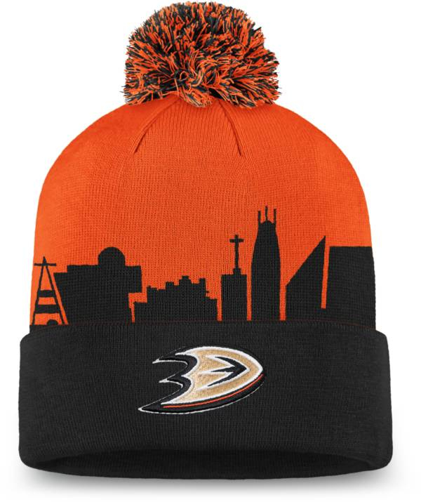 NHL Men's Anaheim Ducks Hometown Black Pom Knit Beanie product image