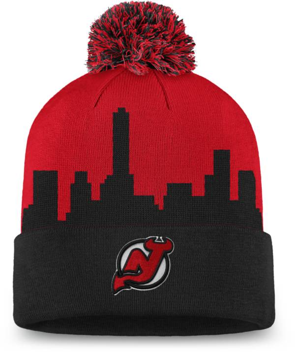 NHL Men's New Jersey Devils Hometown Red Pom Knit Beanie product image