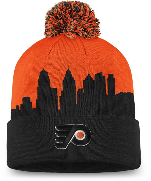 NHL Men's Philadelphia Flyers Hometown Orange Pom Knit Beanie product image