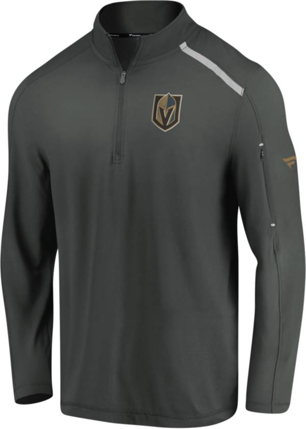 NHL Men's Vegas Golden Knights Authentic Pro Clutch Heather Grey Quarter-Zip Pullover product image