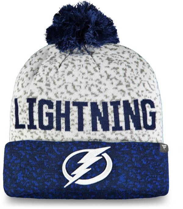 NHL Men's Tampa Bay Lightning Fan Weave Pom Knit Beanie product image