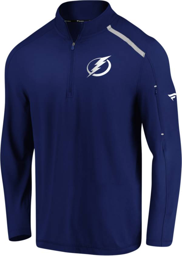 NHL Men's Tampa Bay Lightning Authentic Pro Clutch Blue Quarter-Zip Pullover product image