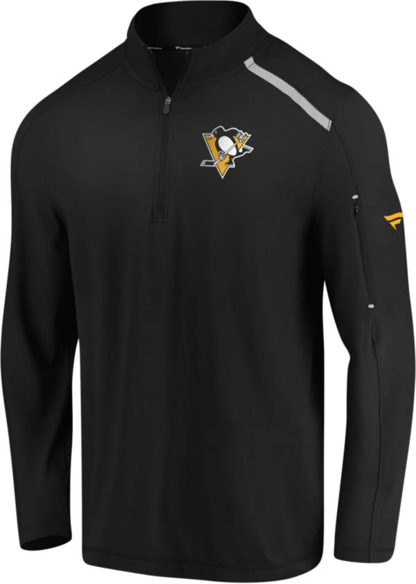 NHL Men's Pittsburgh Penguins Authentic Pro Clutch Black Quarter-Zip Pullover product image