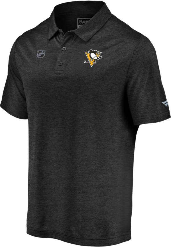 NHL Men's Pittsburgh Penguins Authentic Pro Striated Black Polo product image