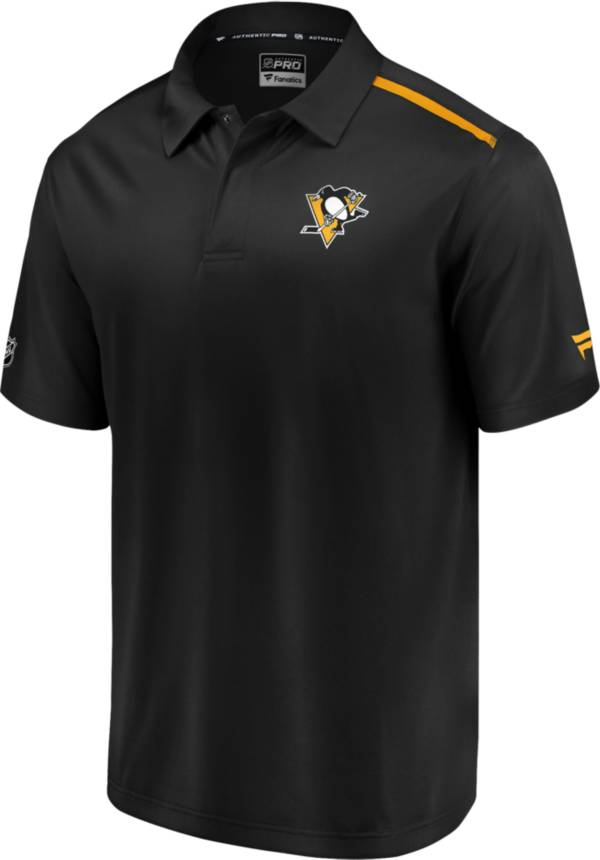 NHL Men's Pittsburgh Penguins Authentic Pro Rinkside Black Polo product image