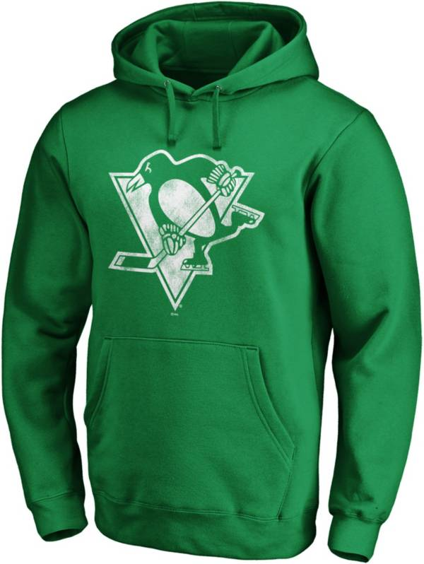 NHL Men's St. Patrick's Day Pittsburgh Penguins Logo Green Pullover Hoodie product image