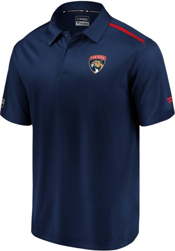 NHL Men's Florida Panthers Authentic Pro Rinkside Navy Polo product image