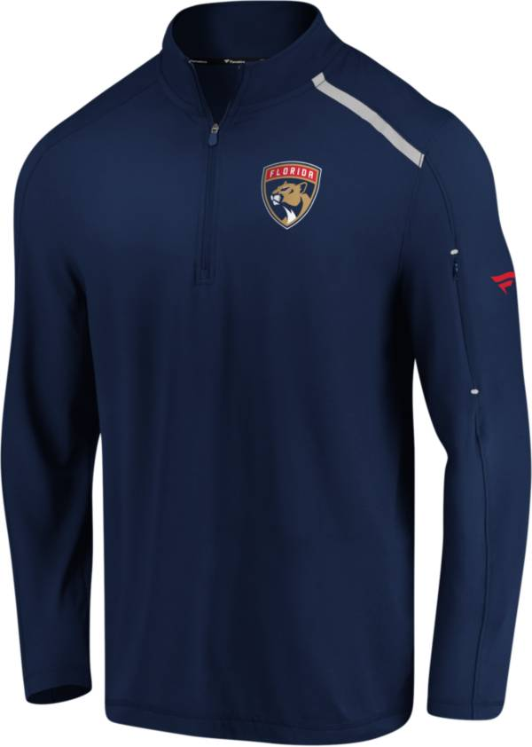 NHL Men's Florida Panthers Authentic Pro Clutch Navy Quarter-Zip Pullover product image