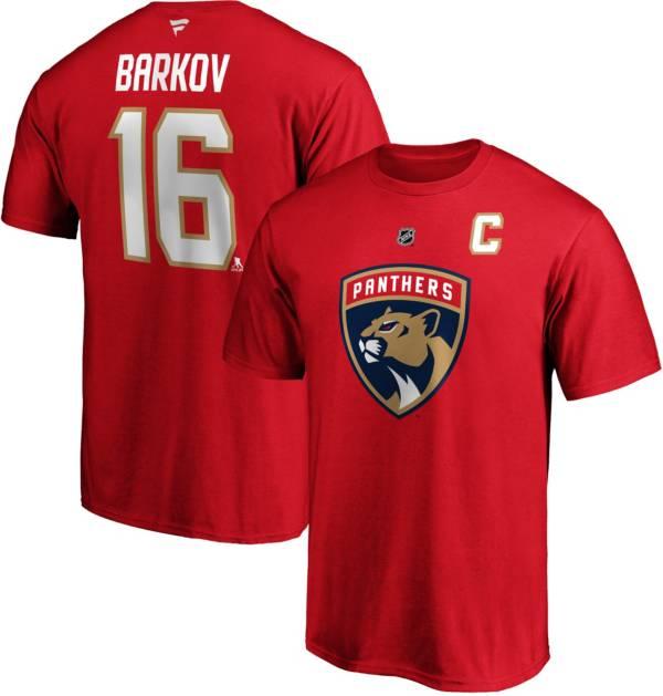 NHL Men's Florida Panthers Aleksandrew Barkov Jr. #16 Red Player T-Shirt product image