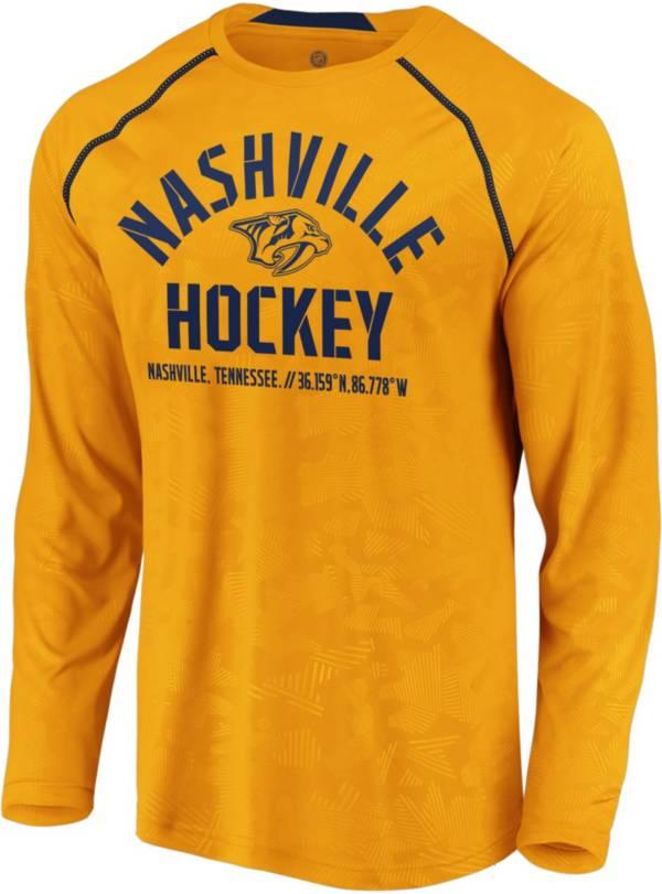NHL Men's Nashville Predators Destination Gold Long Sleeve Shirt product image