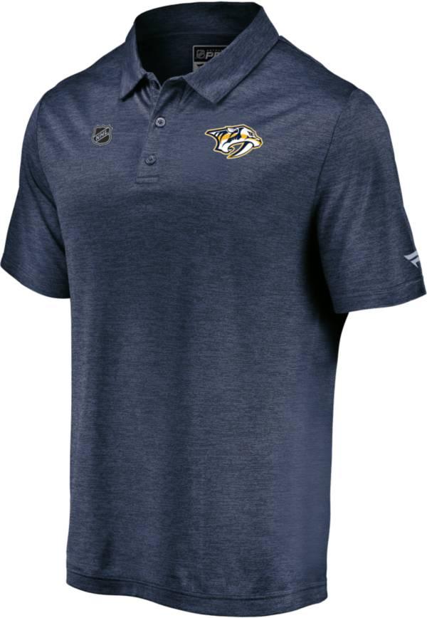 NHL Men's Nashville Predators Authentic Pro Striated Navy Polo product image
