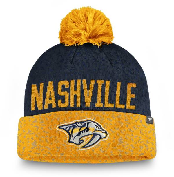 NHL Men's Nashville Predators Fan Weave Pom Knit Beanie product image