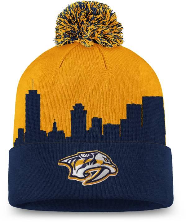 NHL Men's Nashville Predators Hometown Yellow Pom Knit Beanie product image