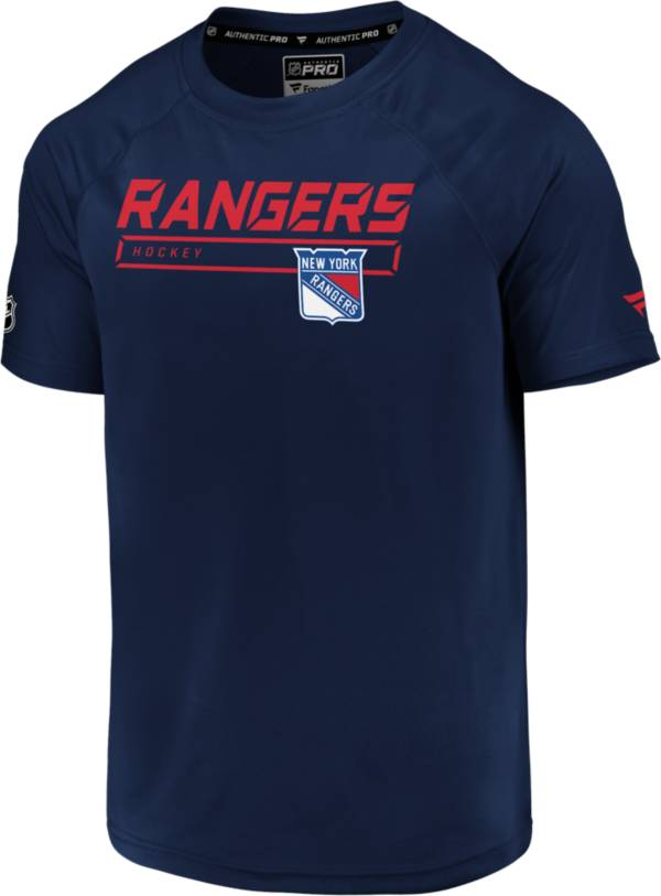 NHL Men's New York Rangers Authentic Pro Rinkside Navy T-Shirt product image