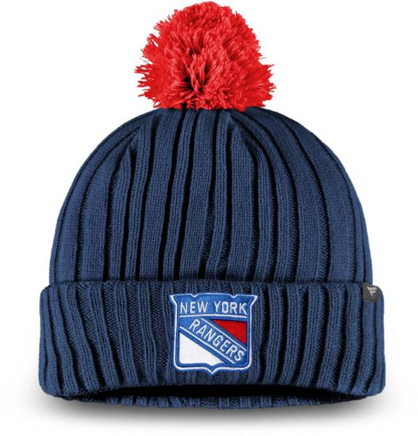 NHL Men's New York Rangers Pom Knit Beanie product image