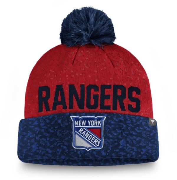 NHL Men's New York Rangers Fan Weave Pom Knit Beanie product image