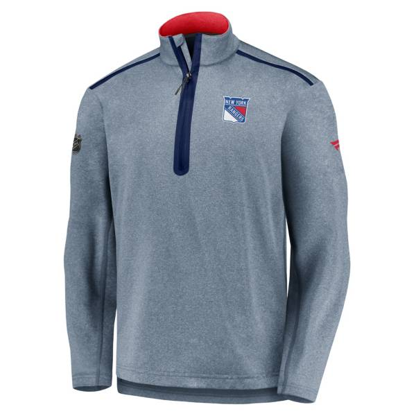 NHL Men's New York Rangers Authentic Pro Navy Quarter-Zip Pullover product image