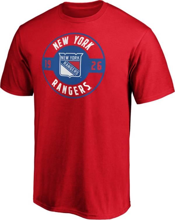 NHL Men's New York Rangers Red Circle T-Shirt product image