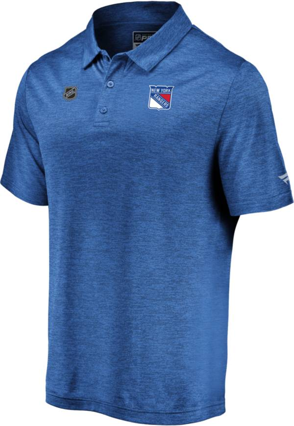 NHL Men's New York Rangers Authentic Pro Striated Royal Polo product image