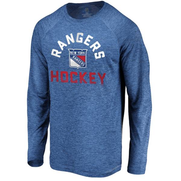 NHL Men's New York Rangers Breezer Royal Long Sleeve Shirt product image