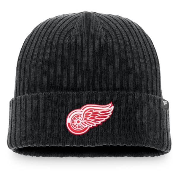NHL Men's Detroit Red Wings Logo Black Knit Beanie product image